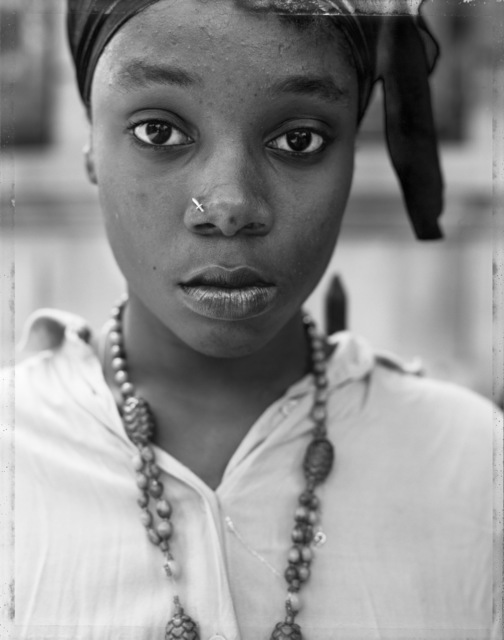 , 'A Girl with a Knife Nosepin, Brooklyn, NY,' 1990, Sean Kelly Gallery