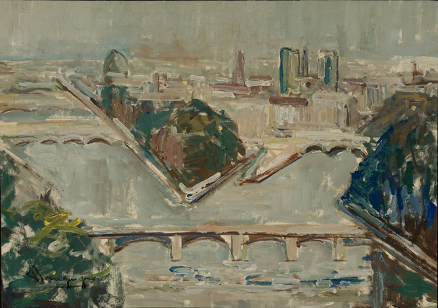 Paul-Henri Bourguignon, 'View of  Paris', Eisele Fine Art