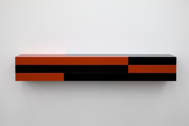 Liam Gillick, 'Resistant Wall Unit (Red, Black)', 2012, Casey Kaplan