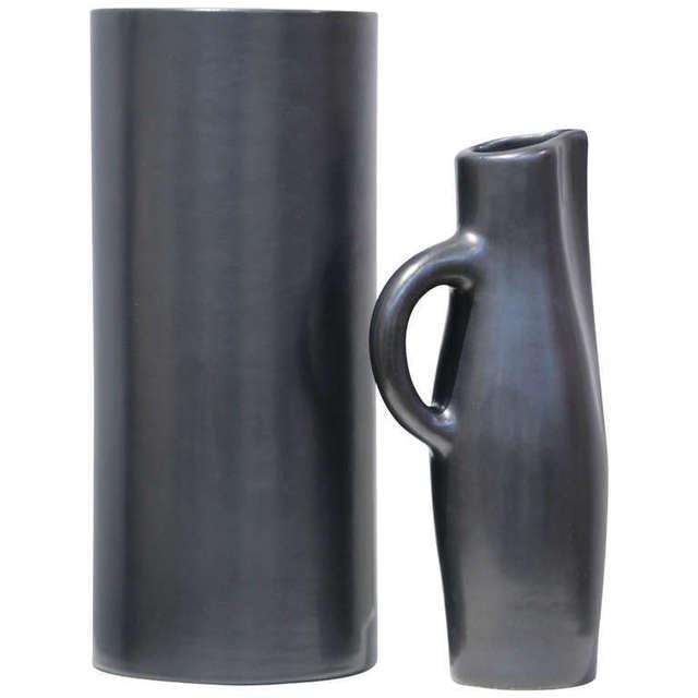 """Georges Jouve, '""""Vase Cylindre"""", """"Pichet"""" & """"Coupe Noirs""""', ca. 1955, Lebreton"""