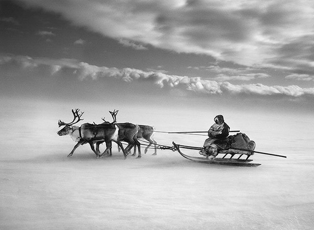 , 'Crossing the frozen Ob River, Siberia, Russia,' 2011, Yancey Richardson Gallery