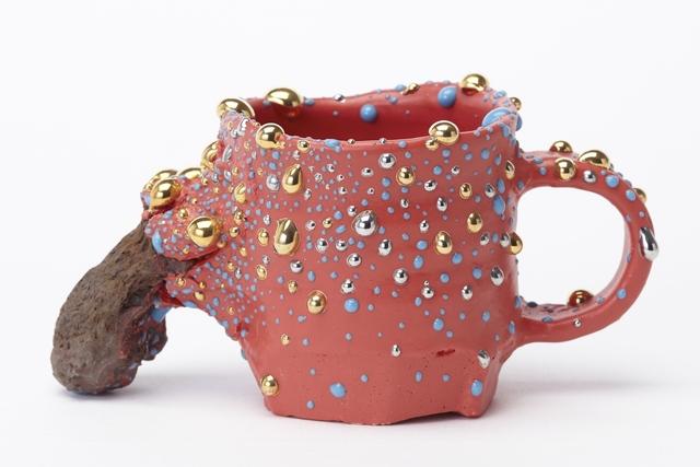 Takuro Kuwata 桑田卓郎, 'Bowl with Handle', 2015, Pierre Marie Giraud