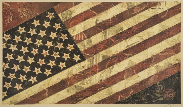 Shepard Fairey (OBEY), 'Flag I', 2011, Forum Auctions