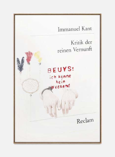 , 'Kritik der reinen Vernunft,' 2018, Ginerva Gambino