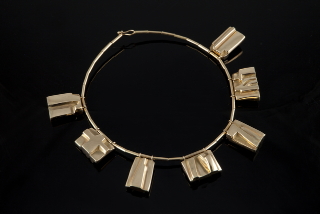", '""Colerette"" gold pendant necklace,' 1990s, Didier Ltd."