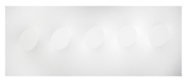 Turi Simeti, '5 ovali bianchi', 2016, Dep Art Gallery