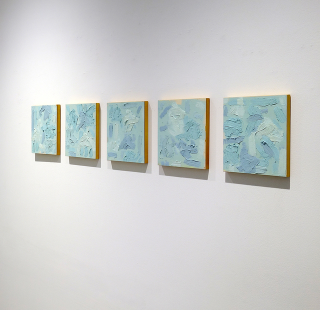 , 'August 12th, 2009 (5 Blues),' 2009, George Lawson Gallery