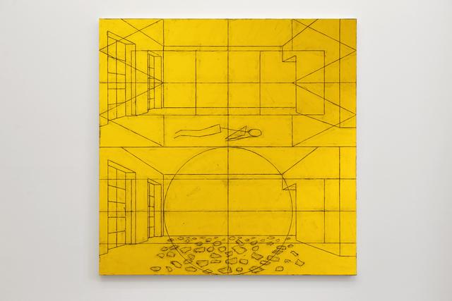 , 'Untitled (World Interior with Figure / Elemental Interior with Pieces),' 2014, Micheline Szwajcer