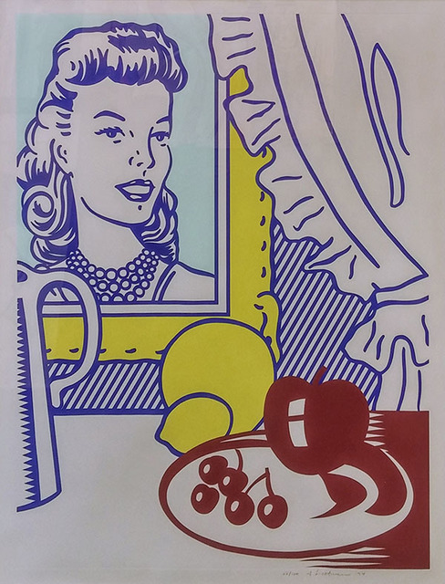 Roy Lichtenstein, 'STILL LIFE WITH PORTRAIT', 1974, Print, Lithograph and screenprint in colors with debossing, on Rives BFK., Marcel Katz Art