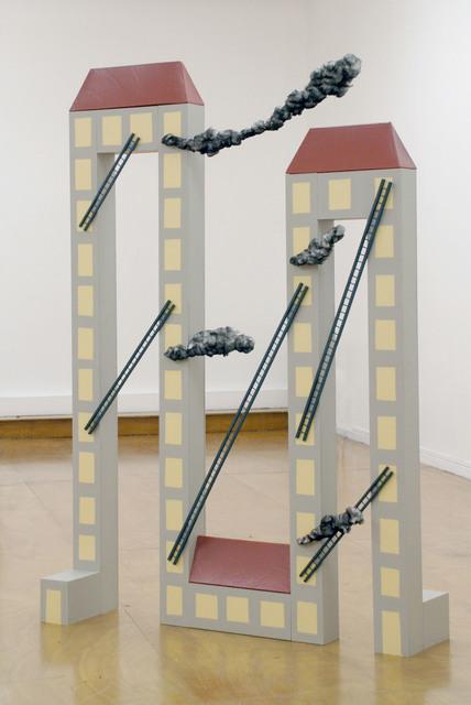 , 'Burning Buildings,' 2013, Samy Abraham