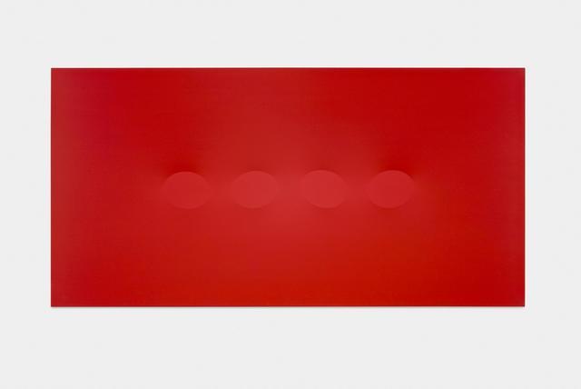 , 'Quattro ovali rosso,' 2015, Almine Rech
