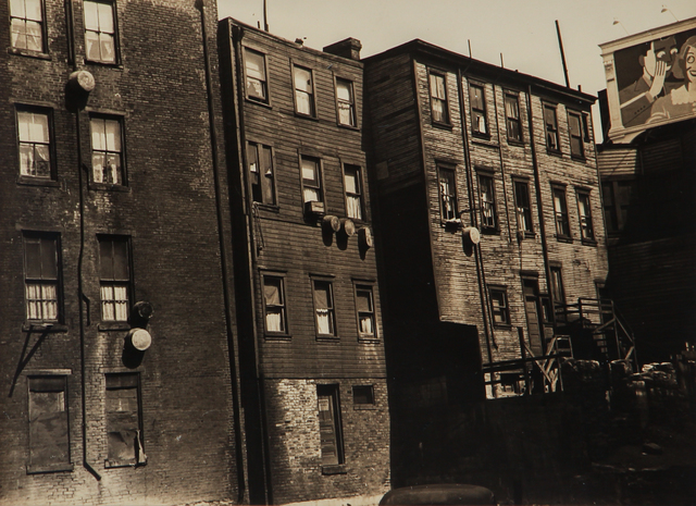 , 'Untitled (apartment house with wash tubs),' 1930-1943, L. Parker Stephenson Photographs