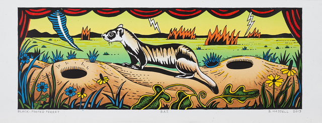 Billy Hassell, 'Black-Footed Ferret', 2019, Conduit Gallery