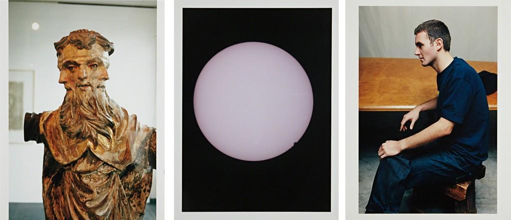Three works: (i) Trinitatis, (ii) Venus Transit, edge, (iii) Mauricio, profile