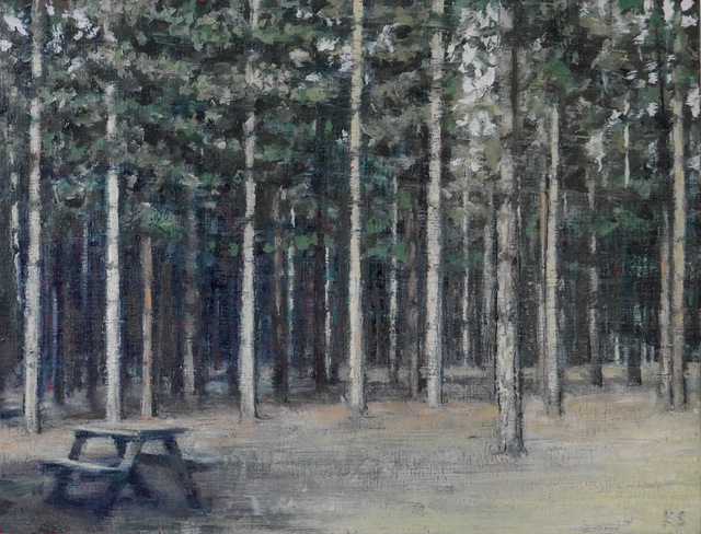 , 'Picnic Bench 4,' 2018, Reuben Colley Fine Art