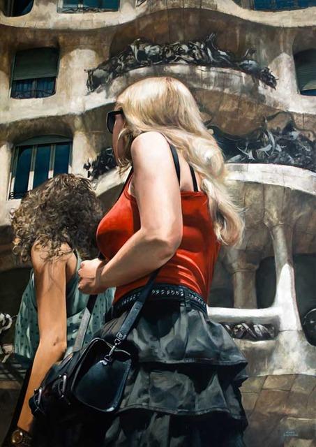 , 'El Paseo y Gaudí,' 2013, GALERIA JORDI BARNADAS