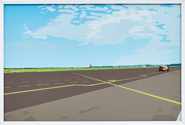 Julian Opie, 'You Walk to the Plane. It is Hot. You Stand Still. Close your Eyes.', 1990, Phillips