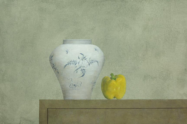 , 'Vase & Yellow Pepper,' 2013, Baik Art