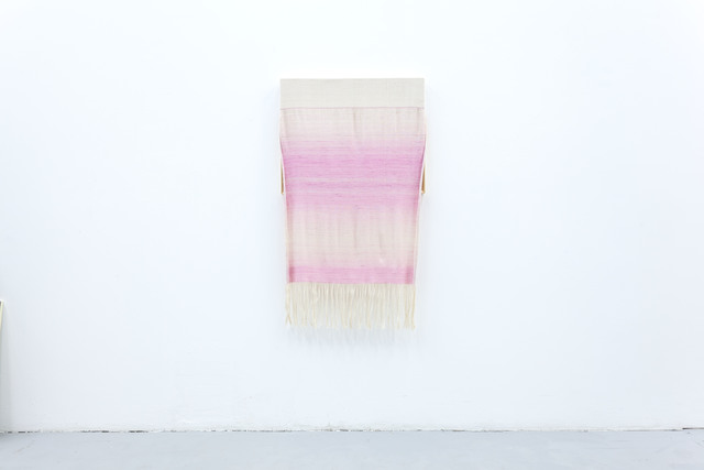 Frances Trombly, 'Canvas with Pink Silk', 2015, Sculpture, Handwoven cotton, hand-dyed silk, wood, Emerson Dorsch