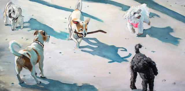 , 'Small Dog Walk One,' 2017, Sue Greenwood Fine Art