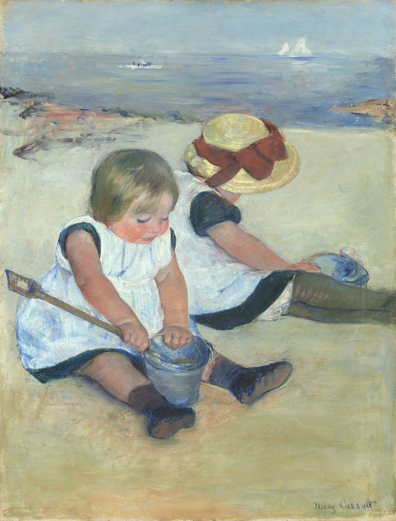 mary cassatt children playing on the beach 1884 artsy