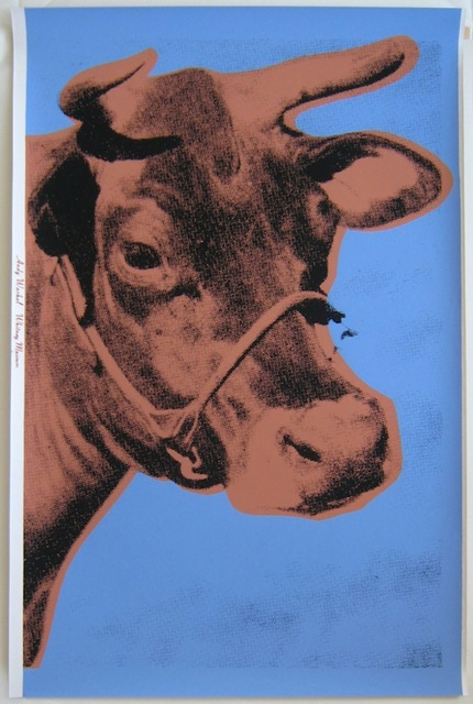 Andy Warhol, 'Warhol Blue Cow, Signed', 1971, HG Contemporary