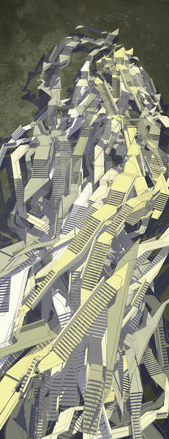 , 'Babel Stairs II,' 2013, Puerta Roja