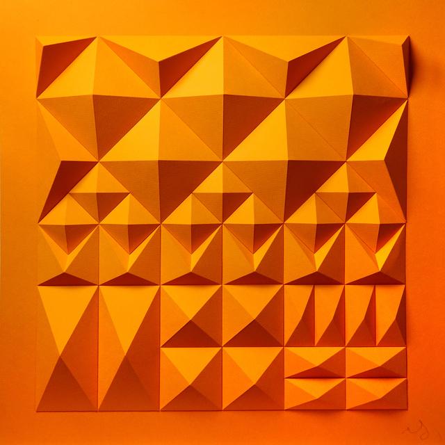 Matt Shlian, 'As Long As You Are Here (Orange Backing)', 2019, Duran Mashaal