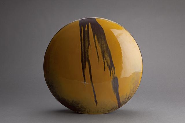 , 'Wheel vase, iron yellow glaze with black,' 1994, Pucker Gallery