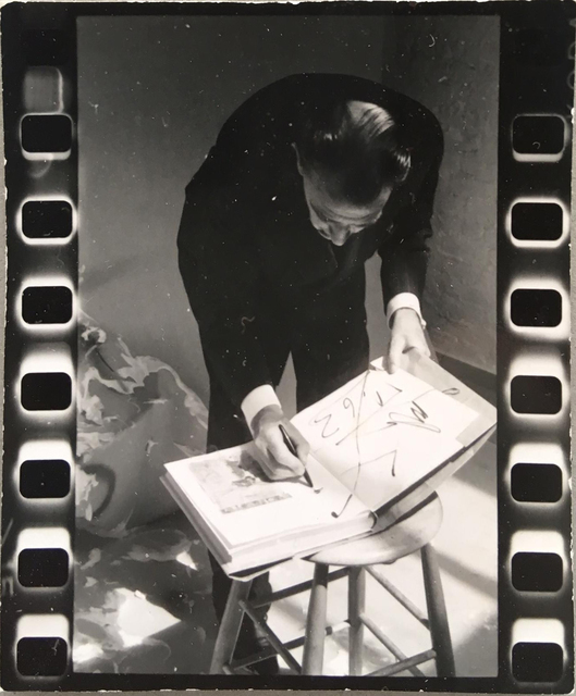 Peter Beard, 'Salvador Dalì signing book', 1963-1964, Atlas Gallery