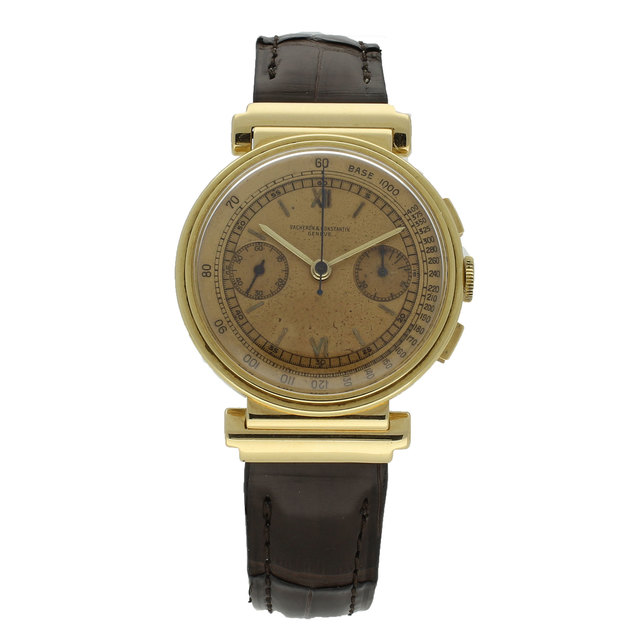 , '18ct yellow gold chronograph wristwatch.,' ca. 1938, Somlo London