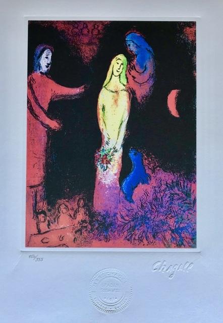 Marc Chagall, 'Chloé vêtue et coiffée par Cléariste', 1985, ByNewArt