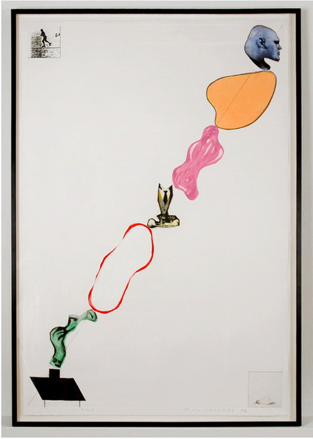 , 'Domestic Smoke: Desire, Power, Colored Intervals and Genie (with 2 boxes asides),' 1992, Mai 36 Galerie