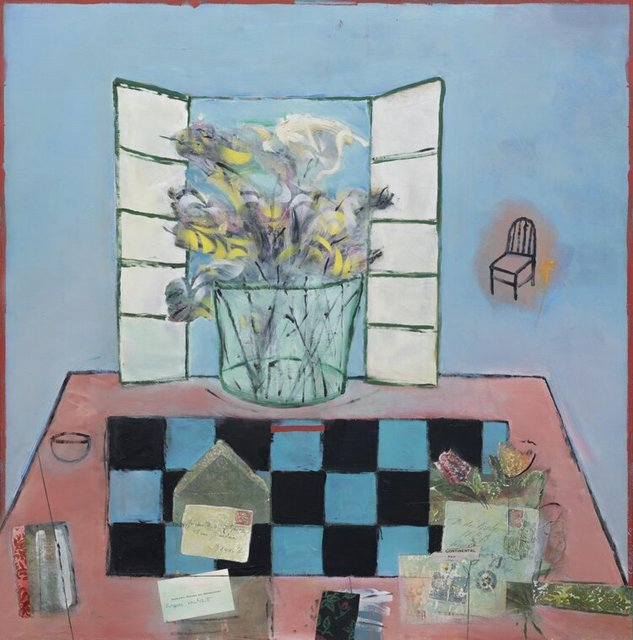 Inez Storer, 'Chess Forum', 2020, Painting, Oil and mixed media on panel, Seager Gray Gallery