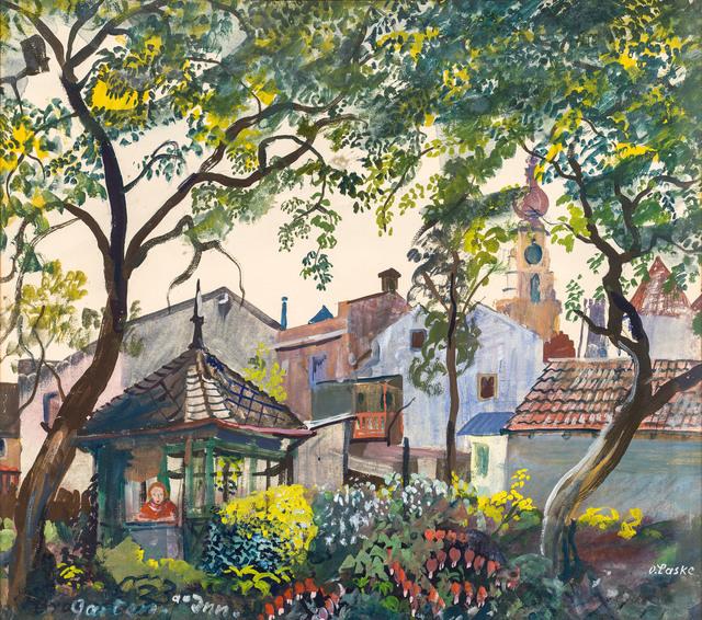 , 'Garden at the Inn,' ca. 1945, Galerie Kovacek & Zetter