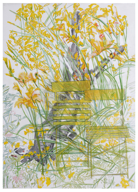 , 'Hemerocallis fulva (two yellow chairs),' 2018, Drina Gallery