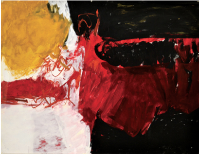 Charlotte Park, 'Untitled (Black, White, Red, and Brown)', ca. 1950, Berry Campbell Gallery