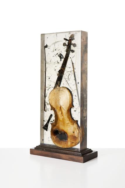 Arman, 'Colère de Violon', 1966, Sculpture, Burnt violin in Plexiglas, Galleri GKM