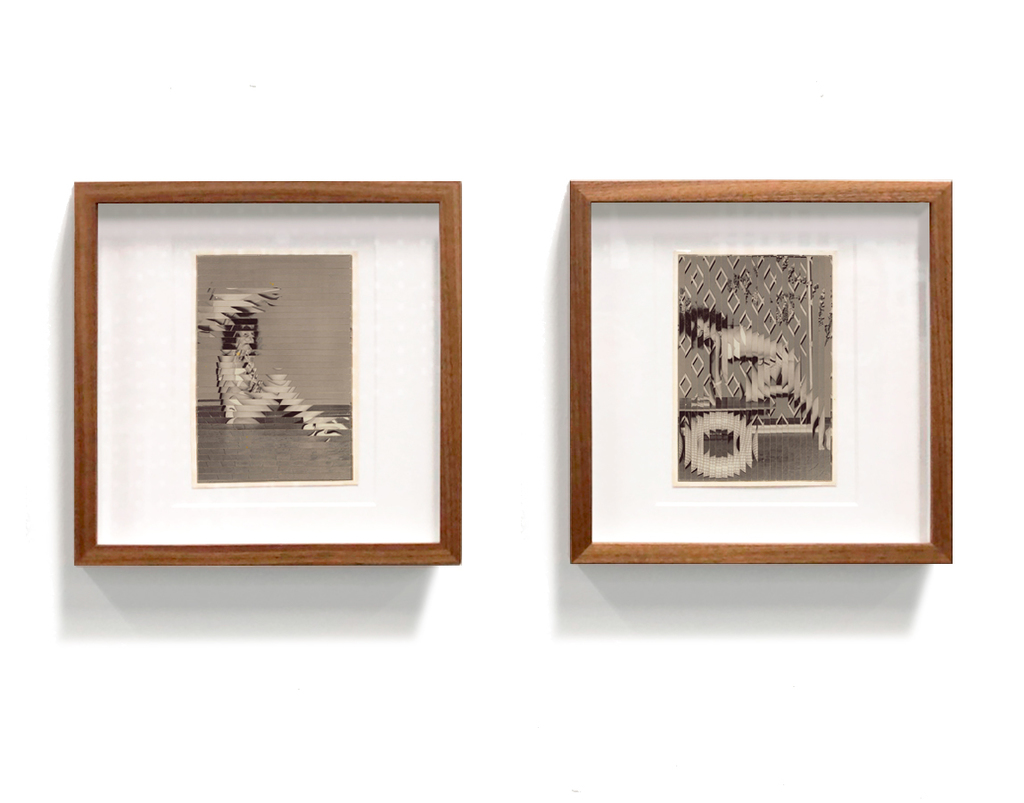 Unique diptych of altered photographs by Kensuke Koike
