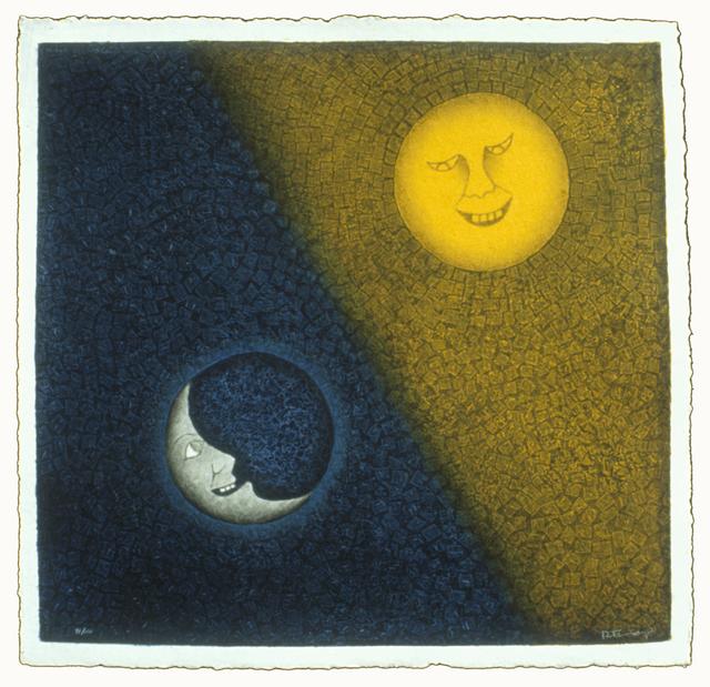 , 'Luna Y Sol,' 1990, Mixografia