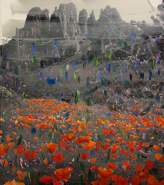 , 'Landscape and orange,' 2018, Almine Rech Gallery