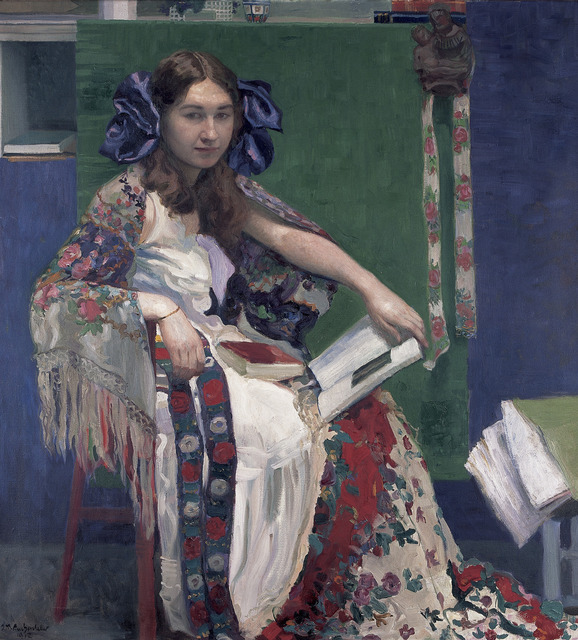 , 'Bunte Bände' (Portrait of Maria),' 1912, The National Gallery, London