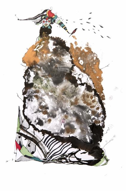 Frank David Valdés, 'Freefall', 2018, Painting, Mixed media on paper, ArteMorfosis - Cuban Art Platform