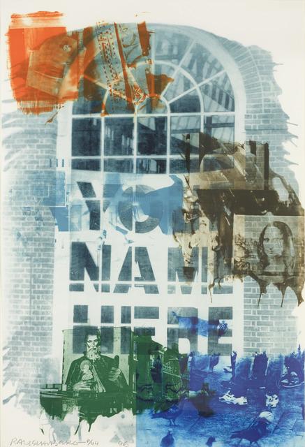 Robert Rauschenberg, 'Banco', 1996, Zane Bennett Contemporary Art