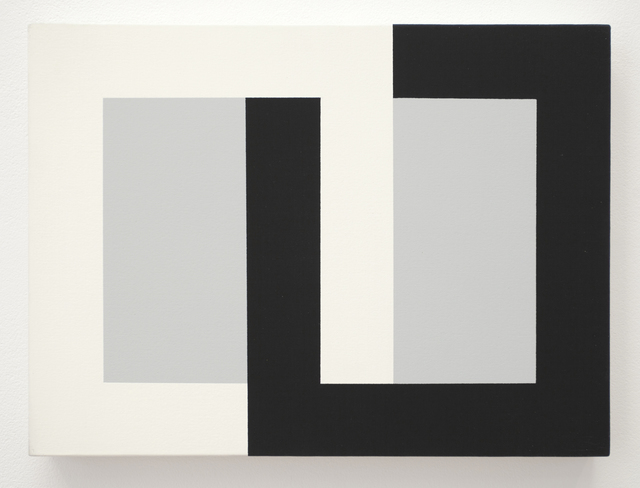 , 'Interlocking (black/white/grey),' 1990, Haines Gallery