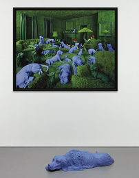 Sandy Skoglund, 'The Green House and Setter Lying Down,' 1990, Phillips: Photographs (April 2017)
