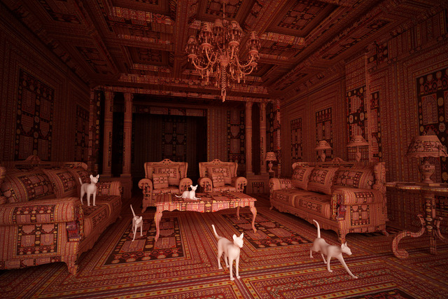, 'Carpet Interiors, Cats,' 2014, Sanatorium