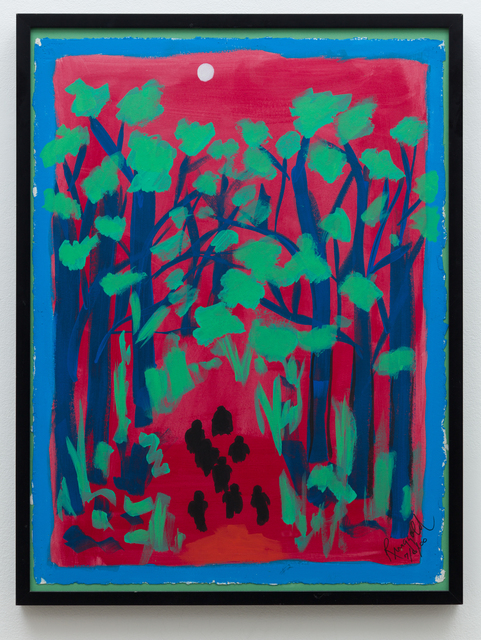 Faith Ringgold, 'Coming to Jones Road Study #2: A Chalk White Moon in a Blood-Red Sky', 2000, Anat Ebgi