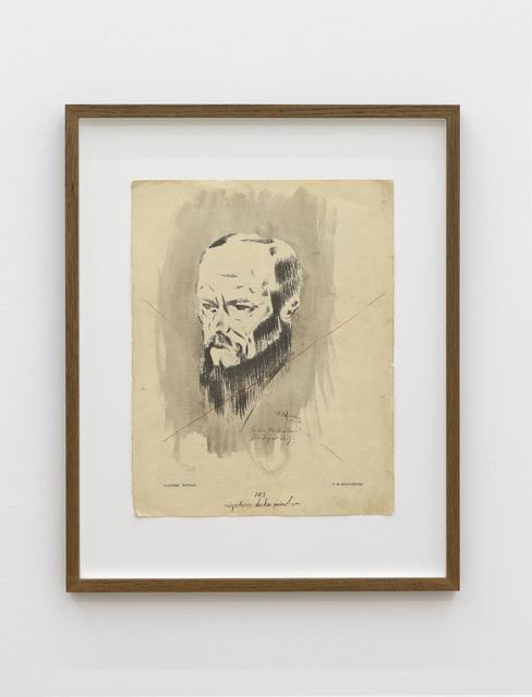, 'Negation de la peinture (Portrait of Dostoevsky),' 1951-1956, galerie frank elbaz