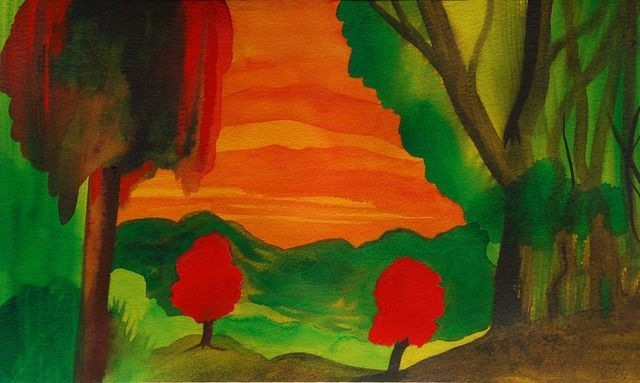 , 'Two Red Trees,' , Ode to Art